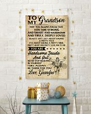 TO MY grandson- grandpa 16x24 Poster lifestyle-holiday-poster-3