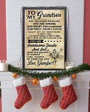 TO MY grandson- grandpa 16x24 Poster lifestyle-holiday-poster-4