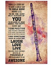 CLARINET - TODAY IS A GOOD DAY POSTER 11x17 Poster front