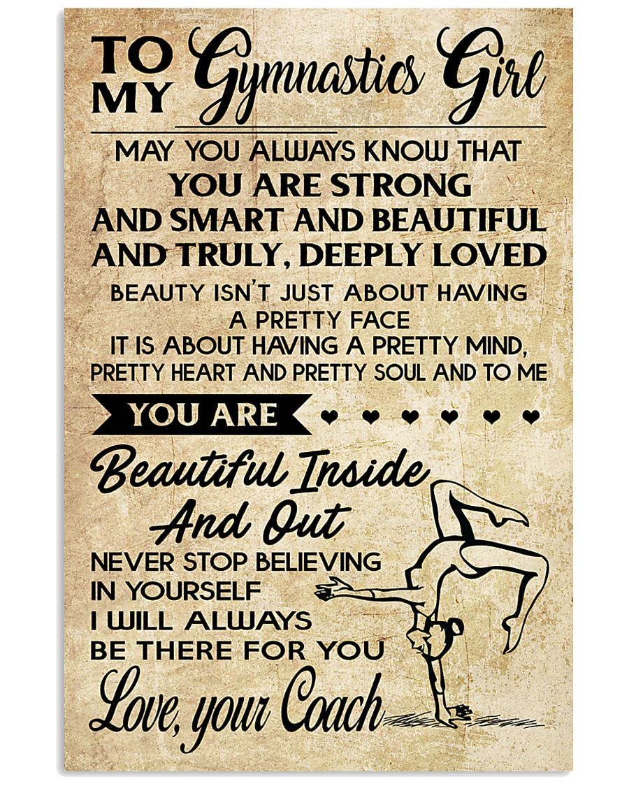 11 TO MY  Gymnastics Girl - your Coach 16x24 Poster