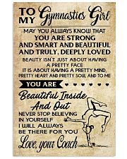 11 TO MY  Gymnastics Girl - your Coach 16x24 Poster front