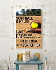 SOFTBALL IS MY LIFE POSTER 11x17 Poster lifestyle-holiday-poster-3