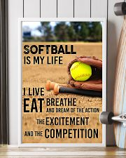 SOFTBALL IS MY LIFE POSTER 11x17 Poster lifestyle-poster-4