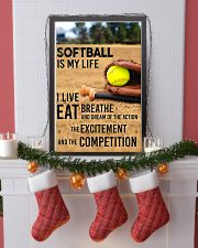 SOFTBALL IS MY LIFE POSTER 24x36 Poster lifestyle-holiday-poster-4