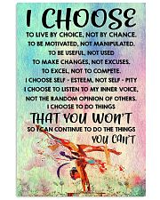I CHOOSE TO LIVE BY CHOICE gymnastics 11x17 Poster front