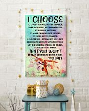 I CHOOSE TO LIVE BY CHOICE gymnastics 11x17 Poster lifestyle-holiday-poster-3