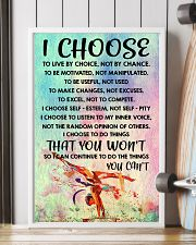 I CHOOSE TO LIVE BY CHOICE gymnastics 11x17 Poster lifestyle-poster-4