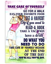 1 - Take care of yourself - GOLF 11x17 Poster front