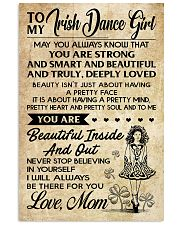 TO MY Irish Dance Girl 11x17 Poster front