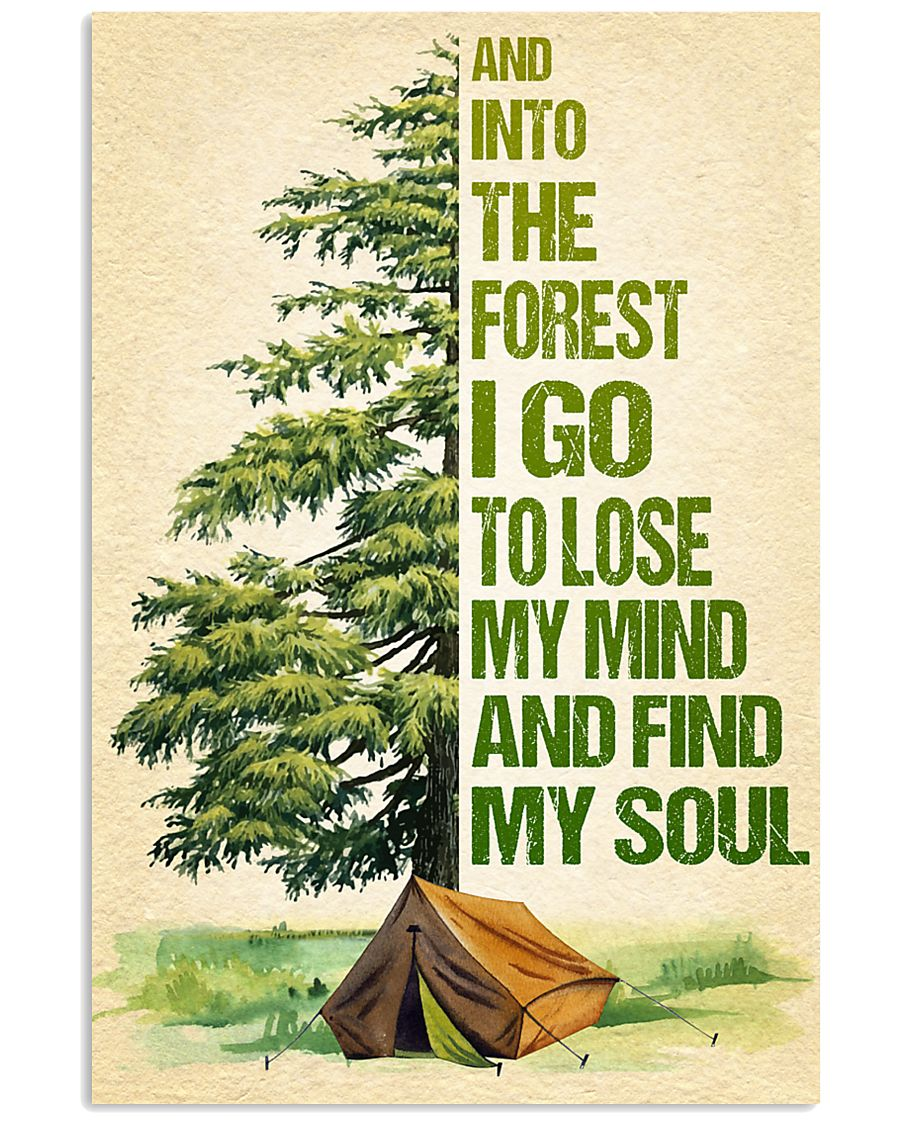 Camping - And into the forest SKY 11x17 Poster