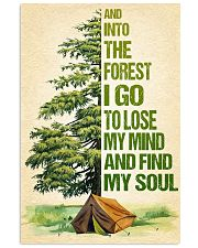 Camping - And into the forest SKY 11x17 Poster front