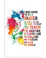 7-hockey skate- I WAS BORN KD 16x24 Poster front