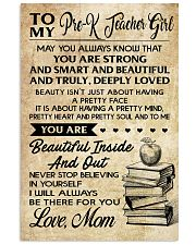 TO MY PRE-K TEACHER GIRL 16x24 Poster front