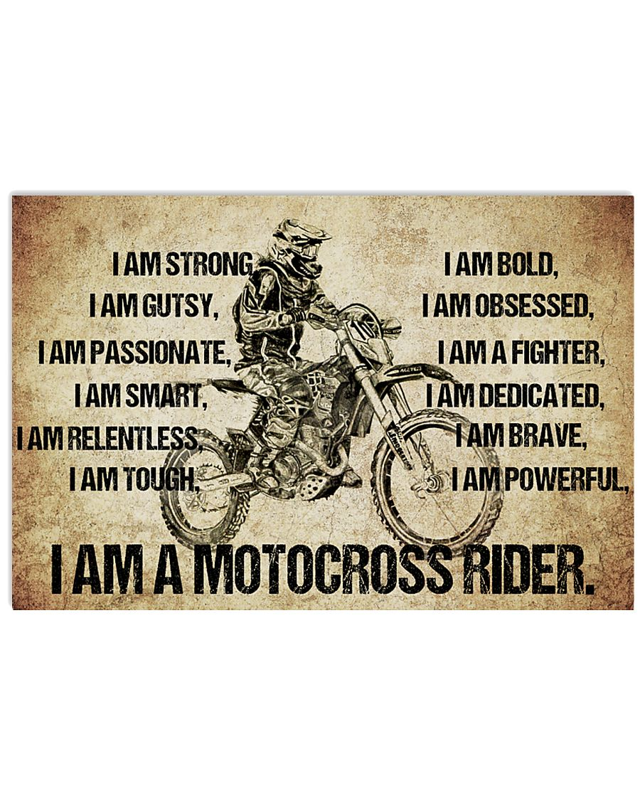 I AM A LINE motocross rider POSTER 17x11 Poster