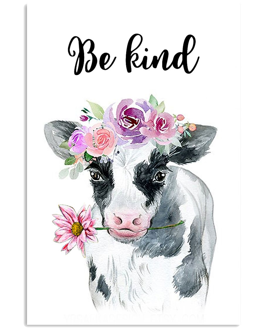 COW BE KIND POSTER 11x17 Poster