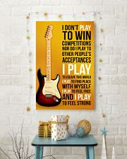 ELECTRIC GUITAR - I DON'T PLAY TO WIN COMPETITION 11x17 Poster lifestyle-holiday-poster-3