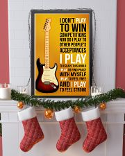 ELECTRIC GUITAR - I DON'T PLAY TO WIN COMPETITION 11x17 Poster lifestyle-holiday-poster-4