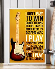 ELECTRIC GUITAR - I DON'T PLAY TO WIN COMPETITION 11x17 Poster lifestyle-poster-4