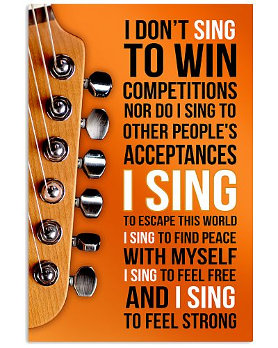 1- ELECTRIC GUITAR - I DON'T SING TO WIN