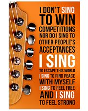 1- ELECTRIC GUITAR - I DON'T SING TO WIN  11x17 Poster front