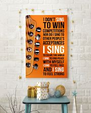 1- ELECTRIC GUITAR - I DON'T SING TO WIN  11x17 Poster lifestyle-holiday-poster-3