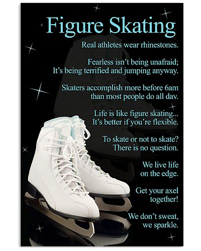 Figure Skating White Poster