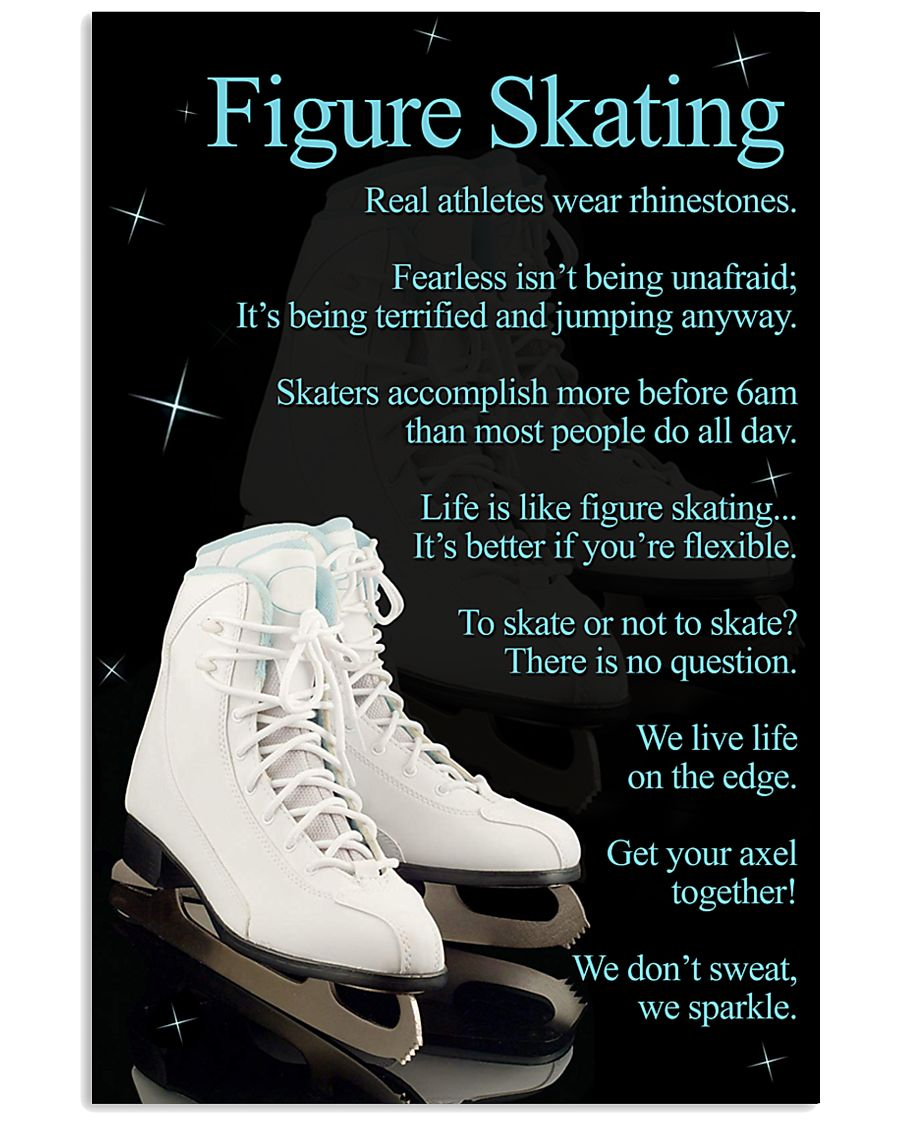 Figure Skating White Poster 16x24 Poster