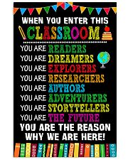 WHEN YOU ENTER THIS CLASSROOM POSTER 11x17 Poster front