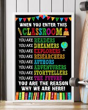 WHEN YOU ENTER THIS CLASSROOM POSTER 11x17 Poster lifestyle-poster-4