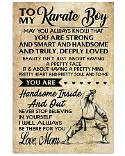 4 TO MY Karate Boy - Mom 16x24 Poster front