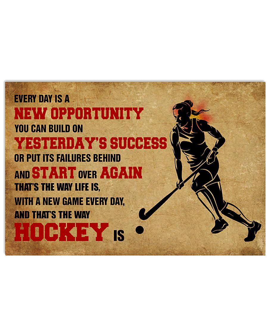 HOCKEY YESTERDAYS SUCCESS 17x11 Poster