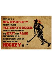 HOCKEY YESTERDAYS SUCCESS 17x11 Poster front