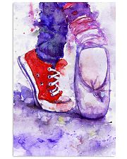 dance shoes watercolor 16x24 Poster front