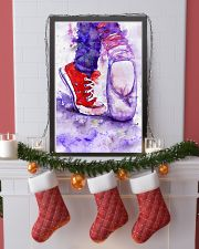 dance shoes watercolor 16x24 Poster lifestyle-holiday-poster-4