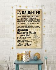 TO MY DAUGHTER- DAD 16x24 Poster lifestyle-holiday-poster-3