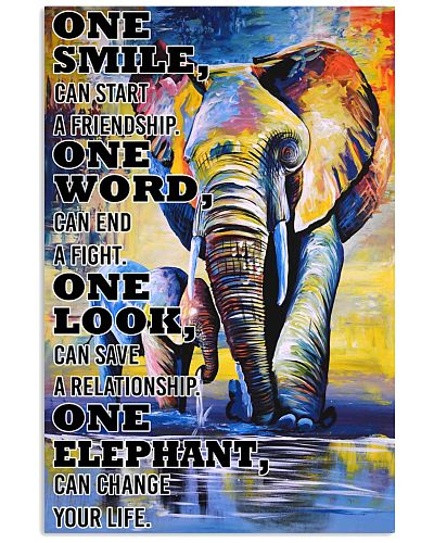 ELEPHANT ONE SMILE POSTER