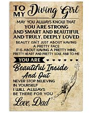 TO MY DIVING GIRL DAD 16x24 Poster front