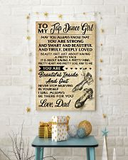 TO MY TAP DANCE GIRL - DAD 16x24 Poster lifestyle-holiday-poster-3