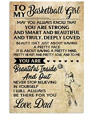 TO MY BASKETBALL GIRL- dad 11x17 Poster front