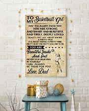TO MY BASKETBALL GIRL- dad 11x17 Poster lifestyle-holiday-poster-3