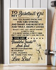 TO MY BASKETBALL GIRL- dad 16x24 Poster lifestyle-poster-4