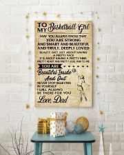 TO MY BASKETBALL GIRL- dad 24x36 Poster lifestyle-holiday-poster-3