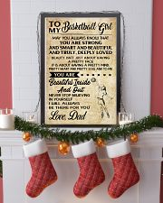 TO MY BASKETBALL GIRL- dad 24x36 Poster lifestyle-holiday-poster-4