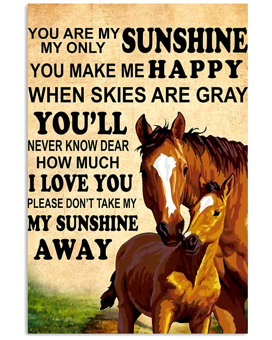 Horse - You are my sunshine 16x24 Poster