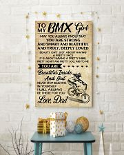 TO MY  BMX Girl DAD 11x17 Poster lifestyle-holiday-poster-3