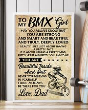 TO MY  BMX Girl DAD 11x17 Poster lifestyle-poster-4