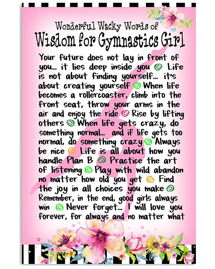 GYMNASTICS GIRL - WONDERFUL WACKY WORDS 11x17 Poster