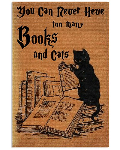 CAT-You can nerver have too many books and cats