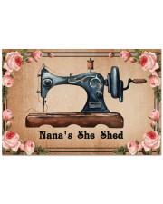 "Sewing lovers Door Mat Nana's She Shed Doormat 22.5"" x 15""  front"