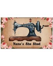 "Sewing lovers Door Mat Nana's She Shed Doormat 28"" x 17"" front"